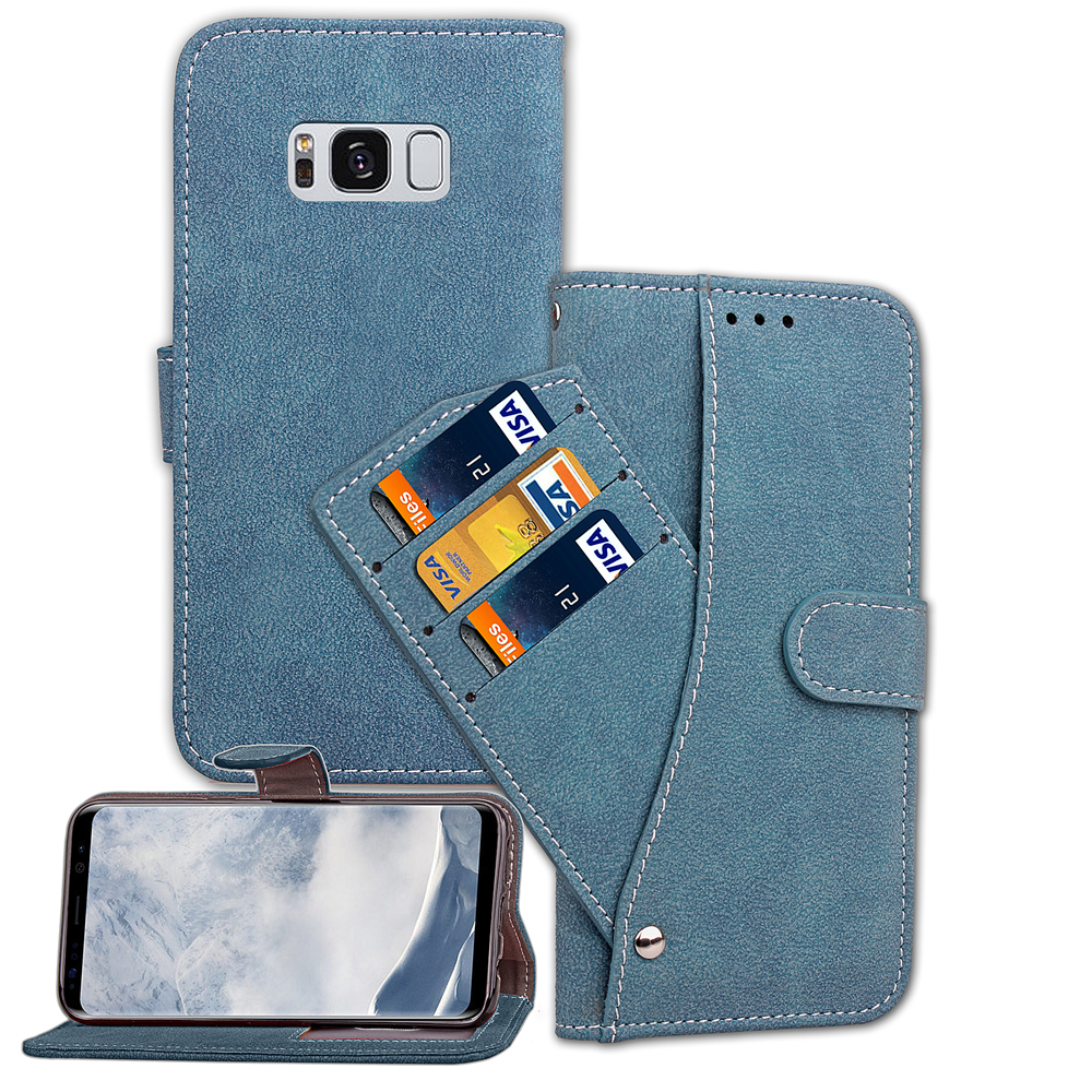 Flip Leather Samsung Galaxy S7 Edge S8 Plus S9 Plus Stand Cover Matte Leather Cases For Sumsung Galaxy S7 S8 S9