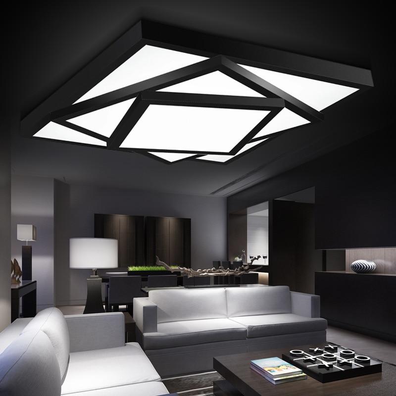 v v negro whit luces de techo luminarias luces llevaron para casas plafon plafonnier