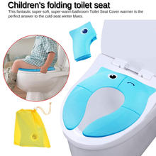 Baby Travel Folding Potty Seat toddler portable Toilet Training seat children urinal cushion children pot chair pad /mat(China)