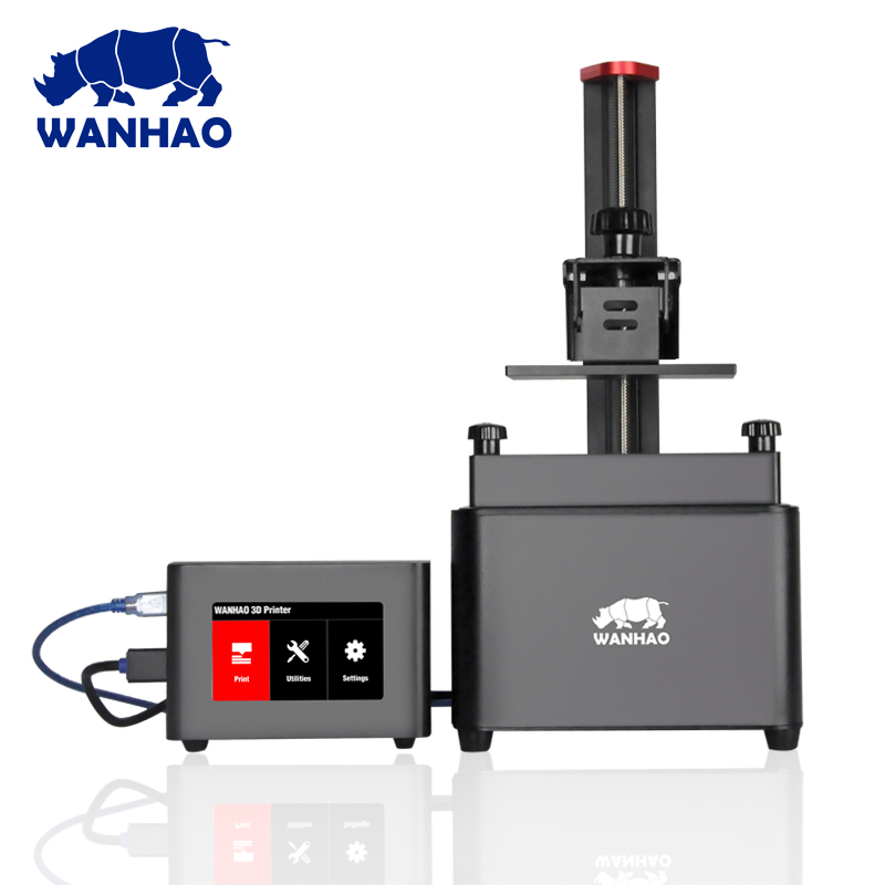 2018 WANHAO 3D printer DLP 3d printer D7 BOX can use USB connect with D7 and use HDMI cable WIFI function Free shipping 3d printer d7 v1 4 from wanhao factory lcd sla dlp printer for dentist and jewelry wifi box