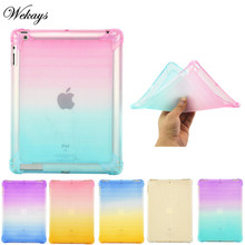 Wekays For Coque Apple Ipad 4 3 2 Colorful Soft Silicone TPU Fundas Case For IPad2 IPad3 IPad4 Tablet Cover Case For IPad 2 3 4 customized colorful tpu soft silicone case cover shell for 7 colorfly e708 3g digma hit ht7070mg tablet free shipping