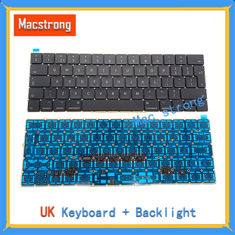 Brand New Original 13 A1706/A1708 UK Keyboard For MacBook Pro Retina 15 A1707 Keyboard 12 A1534 UK With Backlight 2016 2017 image