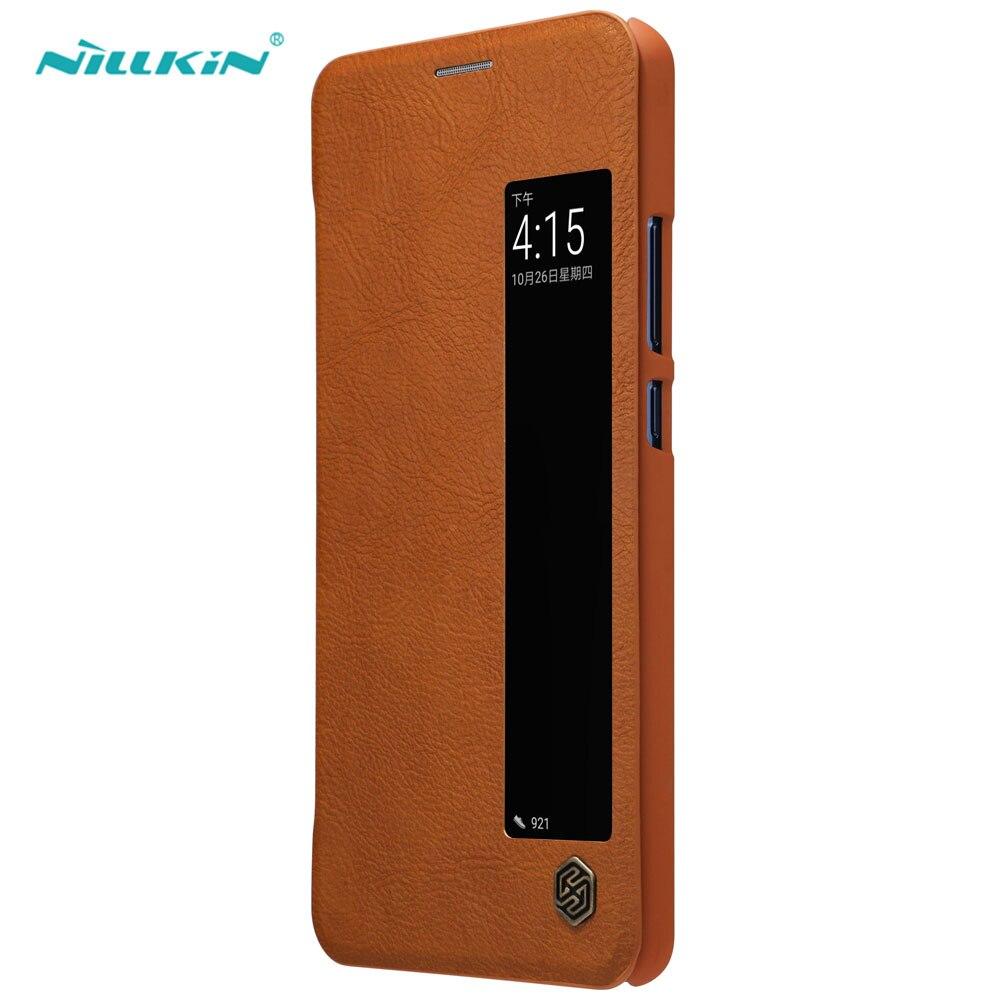 NILLKIN Étui En Cuir pour HUAWEI Compagnon 10 Pro Flip Cas Smart Cover Cas Moblie D'affaires Mince Téléphone Sac Protecteur Shell