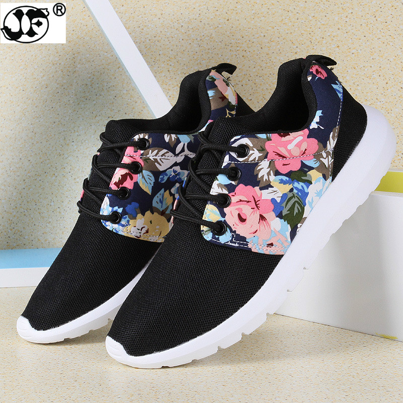 Sneakers Women Trainers Breathable Print Flower 90 Casual Shoes Woman 2018 Summer Mesh Low Top Shoes Zapatillas Deportivas 2017 new summer zapato women breathable mesh zapatillas shoes for women network soft casual shoes wild flats casual shoes