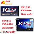 KESS V2 V2.30 V4.036 Firmware + FW V6.070 V2.13 KTAG ECU Herramienta del programador No Tokens Limited sólo unidades principales de DHL Envío Libre
