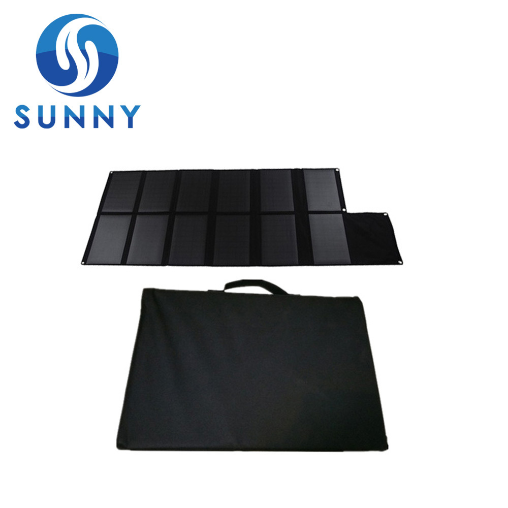 120W Foldable Solar Panel+Solar Cellphone Charger For