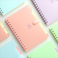 PVC Creative Cartoon Smile Coil Notebook Student Exercise Book Office School Schedule Planner Korean Kawaii Organizer