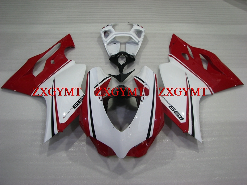 Fairing for 889 2012 - 2014 Fairing 1199S 2014 Red White Plastic Fairings 889 12 13Fairing for 889 2012 - 2014 Fairing 1199S 2014 Red White Plastic Fairings 889 12 13