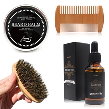 Cosprof Beard Oil Balm Brush and Comb Kit for Men Beard Care Gift Set with Organic