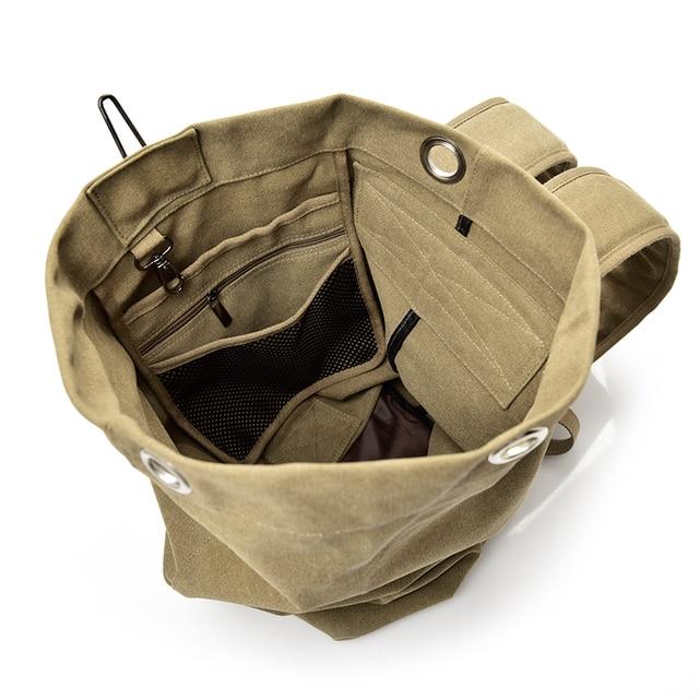 2018 Large Capacity Rucksack Man Travel Bag Mountaineering Backpack Male Luggage Boys Canvas Bucket Shoulder Bags Men Backpacks 5