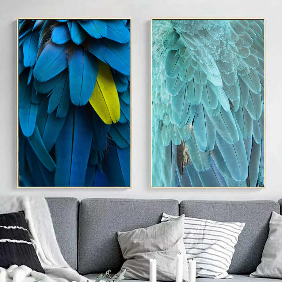 Bird Pretty Feather Nordic Posters And Prints Wall Art Canvas Painting Animal Wall Pictures For Living Room Bedroom Home Decor in Painting Calligraphy from Home Garden