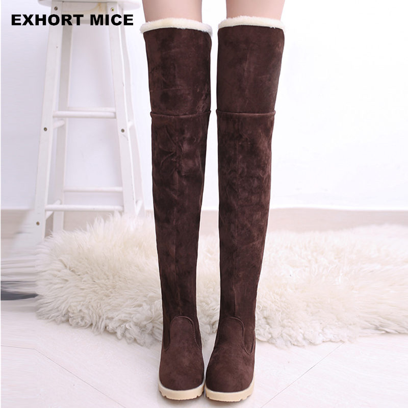 2017 Winter Explosion Models Snow Boots Women Over The Knee Shoes Female In Tube Long Boots