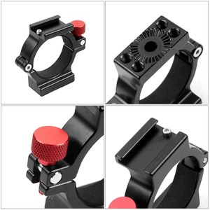 Image 4 - 4 Ring Hot Shoe Adapter Ring Microphone Mount with Magic Arm Adapter for Zhiyun Smooth 4 Handheld Gimbal DSLR Camera Accessories