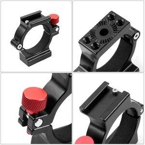 Image 4 - 4 кольцевой адаптер для горячего башмака, Кольцевое крепление для микрофона с адаптером Magic Arm для Zhiyun Smooth 4 ручного шарнира, аксессуары для цифровой зеркальной камеры