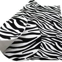 30*140 см Корова Зебра шаблон искусственная кожа с тиснением тканевые простыни для DIY серьги ручной работы сумки из натуральной кожи, 1Yc6411