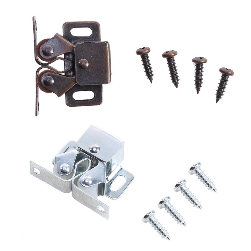 1set Spring Latch Door Clamping Suction Buckle for Cupboard Cabinet Kitchen Door Latch Hardware Closet Furniture Accessory promotions furniture grade plastic spring latch bolt the door buckle cabinet doors fitted plug 10