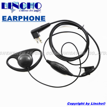 good quality D-shape PTT VOX mic walkie talkie interphone D-shape ham two way radio headset CP88 CP100 CP150