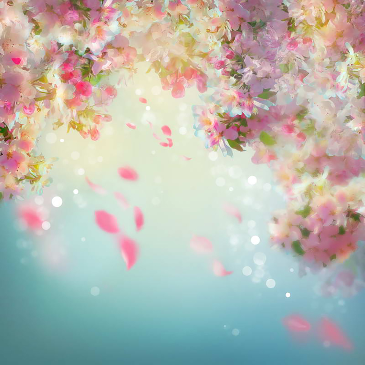 Allenjoy Photography Backdrops Bokeh Pink Flowers Blur Photo