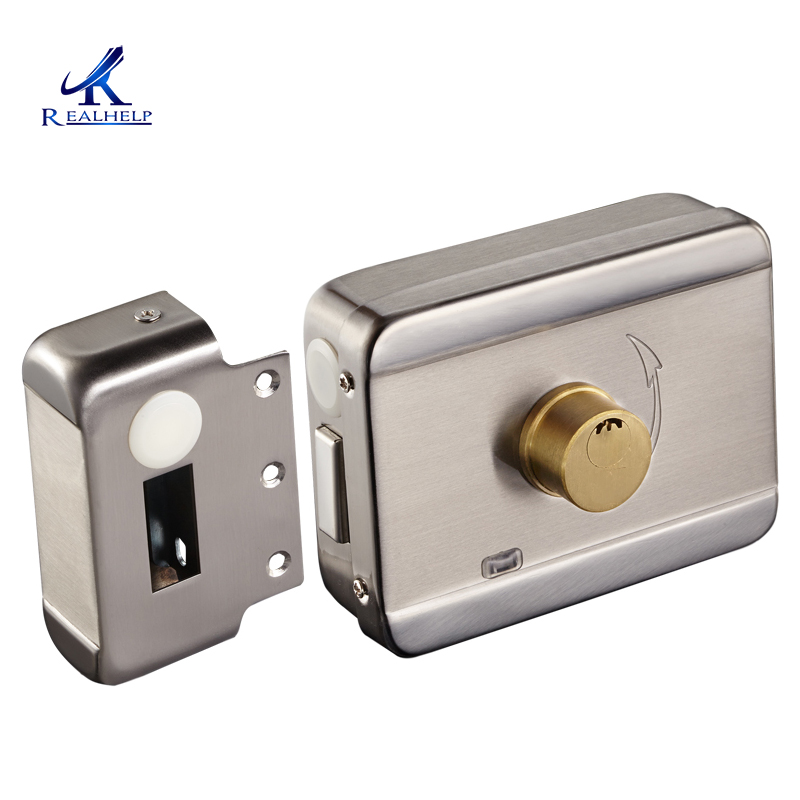 Electric Motor Lock Iron Gate Electronic Door Lock Access Control Lock  Intelligent Lock Surface Drawing Good Quality