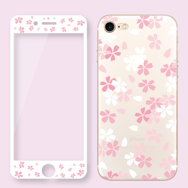 360 Full Back Phone Case + Front Glass For OPPO R9 R9S R11 Plus Soft Tpu Edge Artistic Flower Cartoon Coque Cover Case R11 Plus