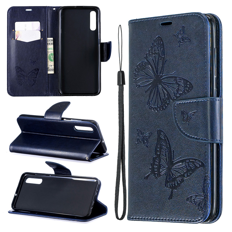 2019 Butterfly Flip Case For Samsung A70 A50 Cover A40 A30 Case Wallet Book Leather Bag For Funda Galaxy A20 E A10 E Case Coque lt in Flip Cases from Cellphones amp Telecommunications