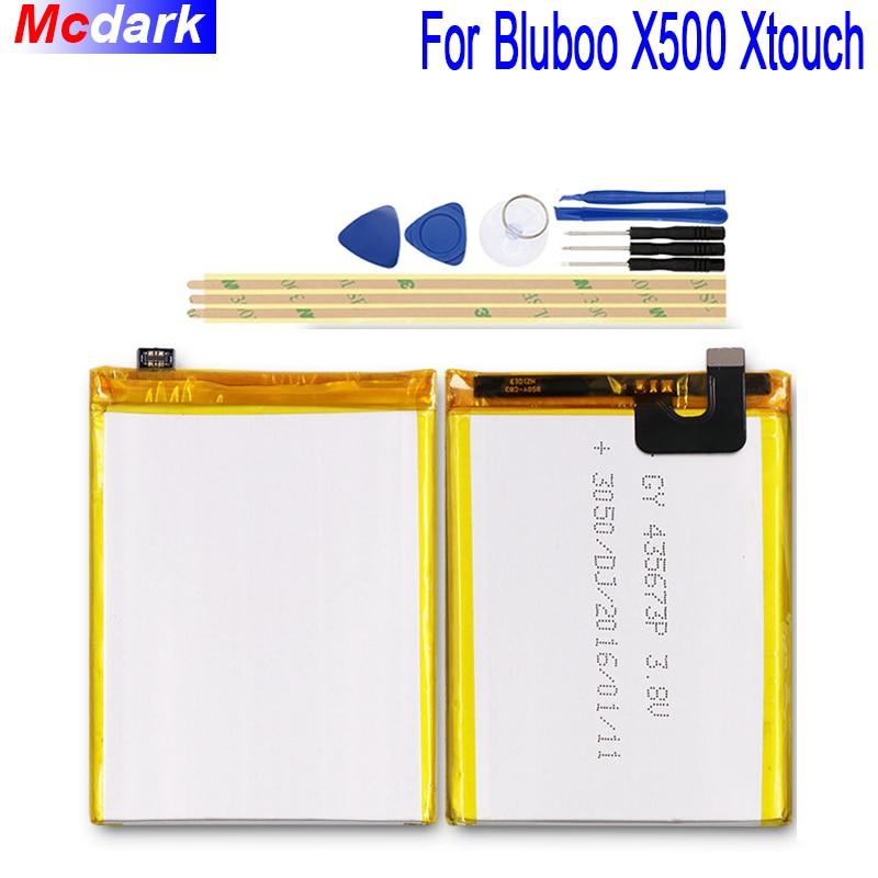 Mcdark 3050 mah Batterie Pour Bluboo X500 Xtouch Batterie Bateria Accumulateur AKKU ACCU PIL Téléphone Portable + Outils