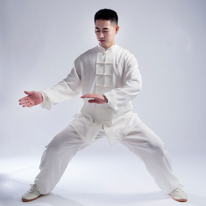New Product Tai Chi Clothes Men And Women Autumn And Winter Tang Costume Yingmian Hemp A Art Performance Clothes Boxing Clothing