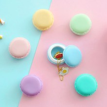 12 pcs/Lot Cute candy stationery storage box Mini macaron case for clips eraser jewelry organizer zakka Table decoration 5028(China)