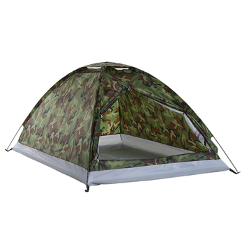 TOMSHOO 1/2 Person Camping Tent Beach Tent Single Layer Tent Portable Camouflage Polyester PU1000mm Camping Hiking Outdoor Tent 3