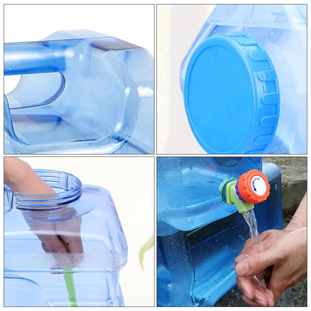 Image 3 - 5l balde de carro pc bpa livre garrafa de água plástica reusável  galão substituição garrafa de água snap no tampão anti respingo jarro  recipienteBalde p/ carro