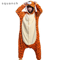 Animal Onesie Adult Tiger Big Size Pajamas Unisex Men Women Cartoon Party Suit Flannel Soft Warm