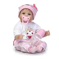 Reborn Doll Toy Simulation Baby High Grade Soft Silicone Lifelike Full Body Newborn Doll Parenting Children Toy