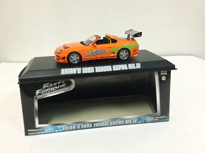 1/43 BRIAN'S 1995 TOYOTA SUPRA MK.W Hollywood Fast & Furious Film Greenlight NEW Limited Edition