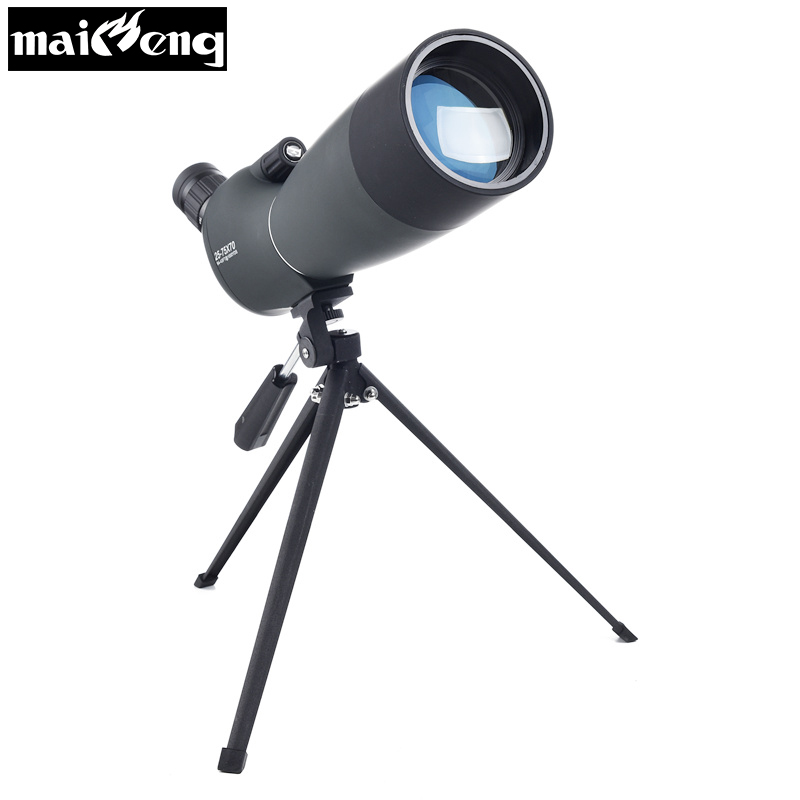 High Zoom Monocular 25 75X70 HD Telescope with Tripod for Bird watching Nitrogen Astronomical scopes Waterproof Spotting Scope