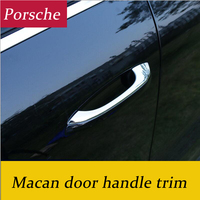 4pcs Car Styling Chrome Trim Side Door Handle Covers Fit Exterior Decoration 3D Sticker For Porsche