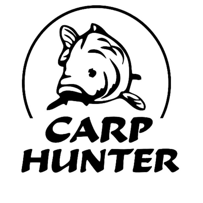 12.2cm*12.9cm Carp Hunter Car Styling Stickers Decals Vinyl Decor S4-0373