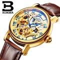 Швейцарские роскошные мужские брендовые механические наручные часы watche BINGER  сапфировые полностью B-5066M-6 из нержавеющей стали