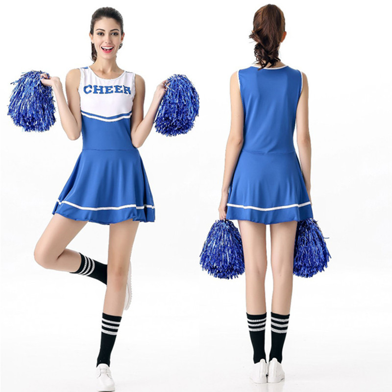 6 Color Hot Sale Sexy Girl Cheerleader Uniform High School Girl Cheerleading Fancy Dress