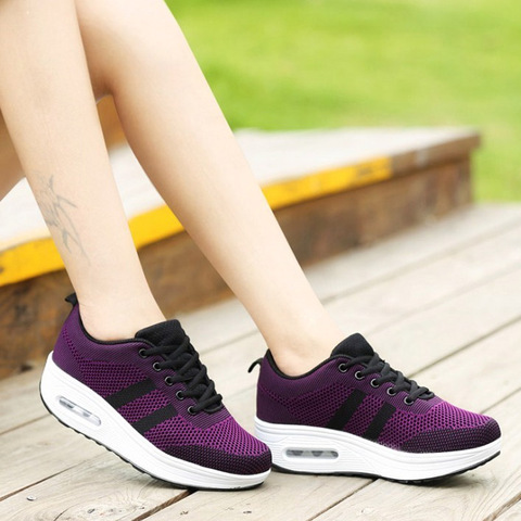 VTOTA Women Wedges Shoes Mesh Breathable White Shoes Fashion Spring Summer Women Chunky Sneakers zapatillas mujer Casual Shoes L Lahore
