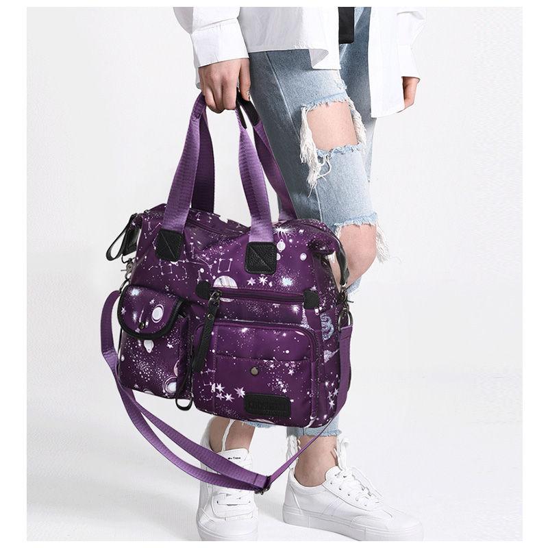 Delle gray Per purple Borse Black Satchel A À Tote Messaggero Sac Le Bolsa Capienza Donne Del Nylon Main Impermeabile Di Starry Borsa Tracolla Grande 2018 Sacchetto Sacchetti vwtAq4q