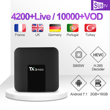 1 Year SUBTV IPTV Code TX3mini TV Box Arabic Italian IPTV Subscription 4K FULL HD Android 7.1 Box Portuguese Turkey Canada IP TV 1 year subtv iptv code leadcool q9 box french arabic iptv subscription 4k h 265 rk3229 smart ip tv box italian portuguese iptv
