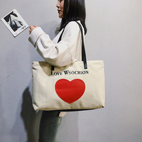 Hot Canvas Tote Bags Foldable Grocery Bags Embroidery Canvas Large Capacity Recyclable Bag 2019 New Simple Design Healthy Bag