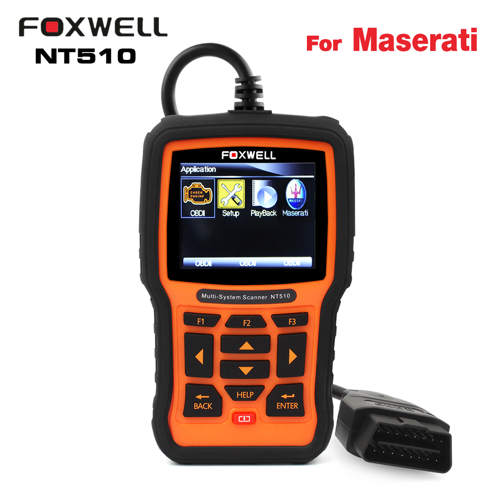Цена за Для Maserati диагностики автомобиля сканер Foxwell NT510 для Quattroporte OBD2 авто код читателя полный системы диагностический сканер