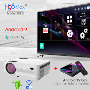 Image 5 - WZATCO HD 720P 150inch Portable Mini 3D LCD LED 4k Projector Android 9.0 WIFI Optional Home Theater Game Movie Cinema Proyector