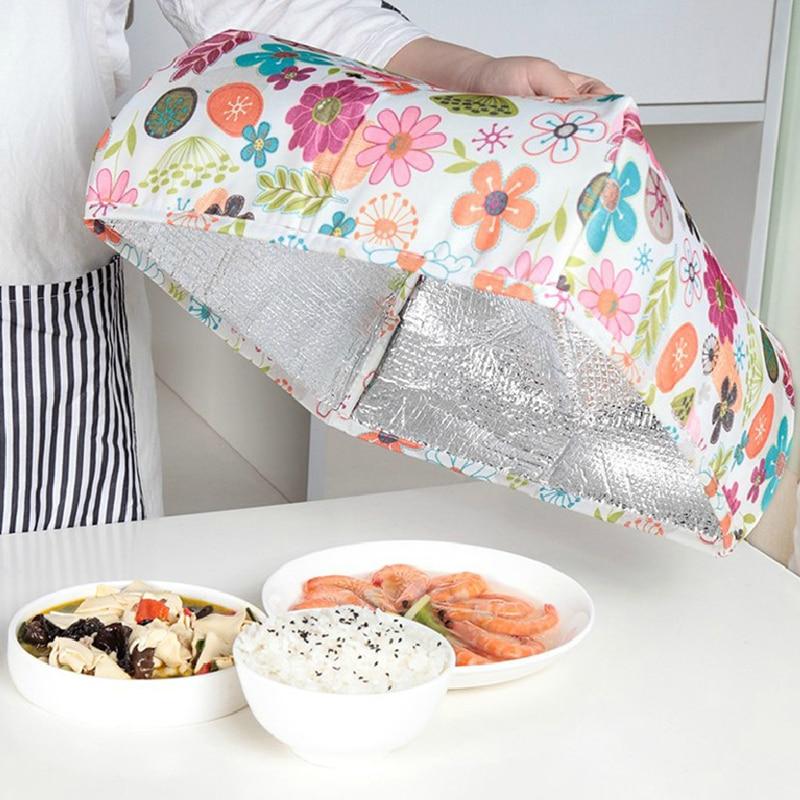 Invierno comida cubierta paracaídas plegable mesa cuadrada cubierta ...
