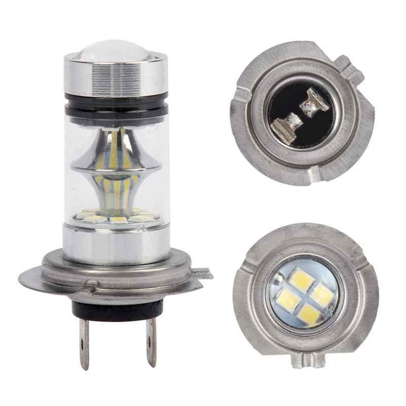 1 Coppia di Alto Potere Led H7 Lampadina 100W 20LED Proiettori con Lampada Auto Della Luce di Nebbia 6000K Bianco