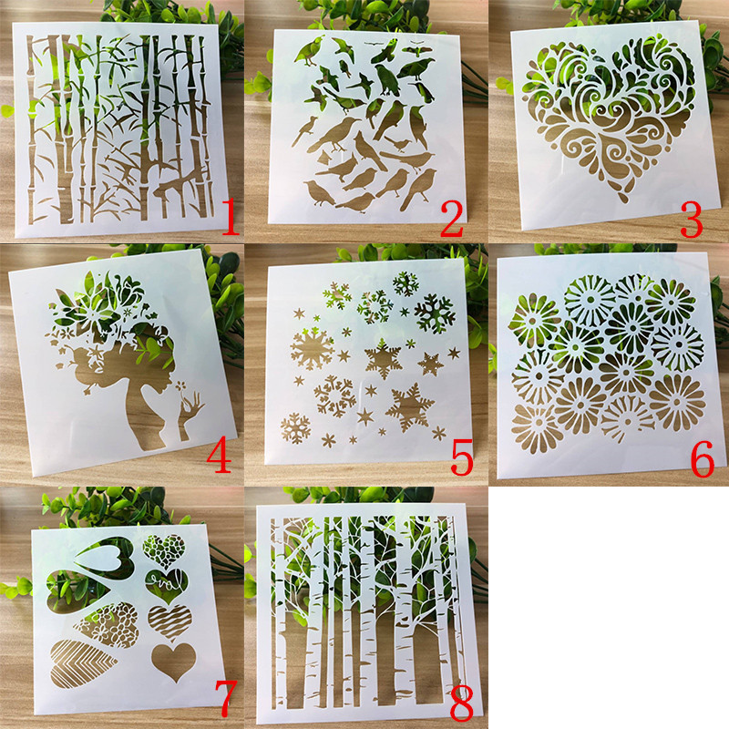 Stencils Scrapbooking Photo-Album Plant Hollow-Embellishment Layering Decoration