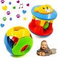 2 pcs Bebê Recém-nascido Pouco Alto Jingle Brinquedo Bola Rolando Sino Anel Chocalho Agarrar