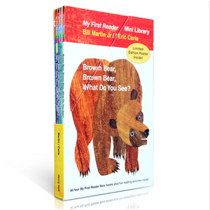 Image 3 - 4 Uds. Libro en inglés para niños mi primer lector Mini biblioteca: oso marrón, oso marrón, ¿qué ves? Educación popular libro