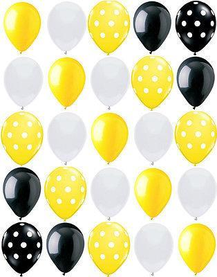 25ct Polka Dot Bumble Bee Birthday Party Baby Shower Decoration Mix